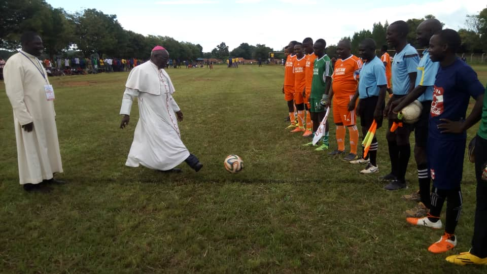 His Grace John Baptist Odama Flags off games between AMDA and Gulu Archidioce